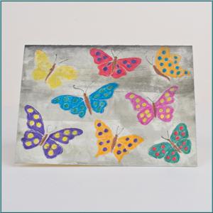 Attraktiv Bastelidee: Karte Mit Schmetterlingsmotiv Bemalen