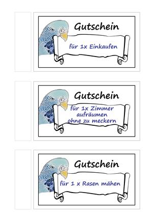 DIY ♥ Gutschein Vorlagen kostenlos zum Ausdrucken ♥ Basteln mit ...