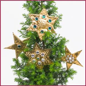 Weihnachtsbasteln Sterne Aus Goldpapier.Basteln Weihnachten Bastelidee Mit Kostenloser Bastelanleitung