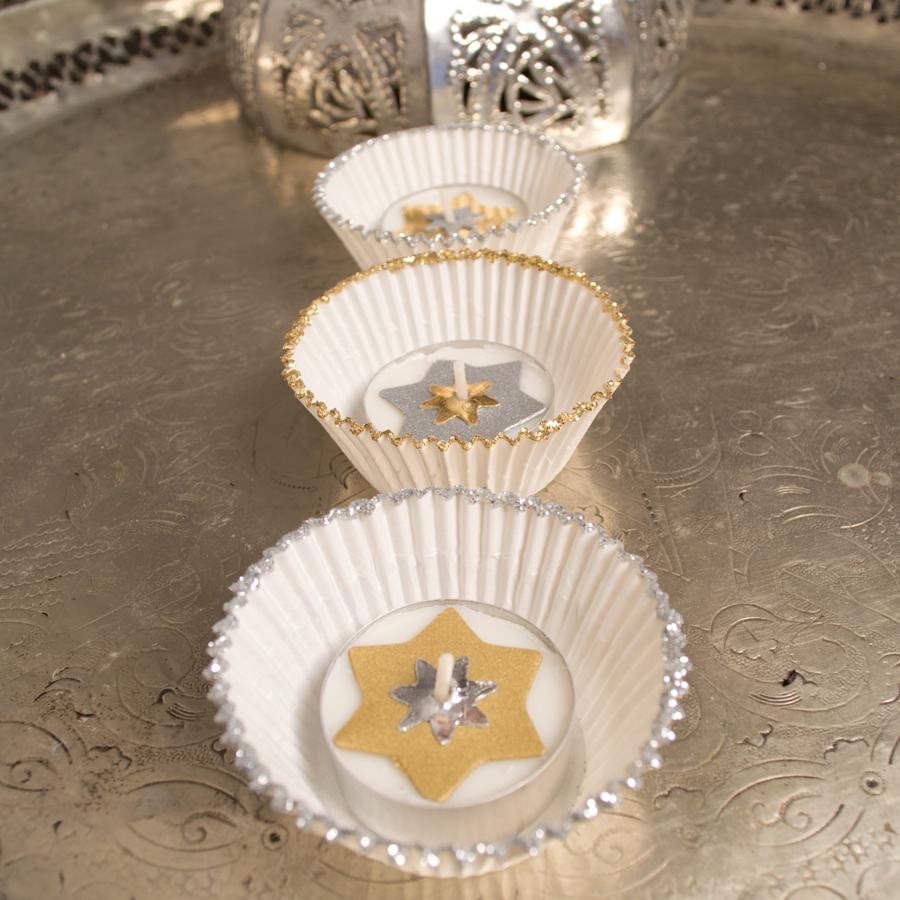 Sehr Basteln für Weihnachten - Bastelidee Weihnachtsdeko: Teelichter LC03