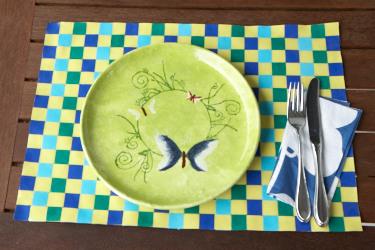 Bevorzugt Ideen für die Tisch Deko - Bastelidee: Tischset basteln und selber XZ01